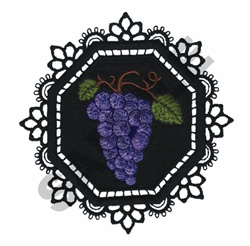 GARDEN LACE GRAPES embroidery design