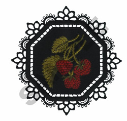 GARDEN LACE RASPBERRIES embroidery design