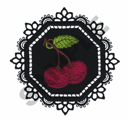 GARDEN LACE CHERRIES embroidery design