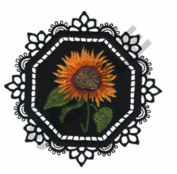 GARDEN LACE FLOWER embroidery design