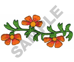 FLORAL DESIGN BORDER embroidery design