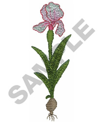 FLORAL BULB embroidery design