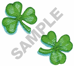 SHAMROCKS embroidery design