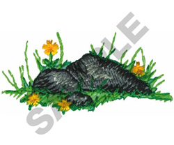 ROCKS IN THE GRASS embroidery design