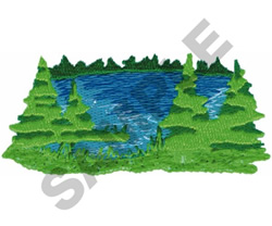 OUTDOOR SCENERY embroidery design