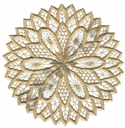 FLORAL CIRCLE embroidery design