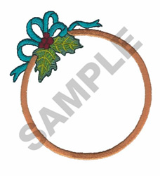 HOOP WITH HOLLY embroidery design