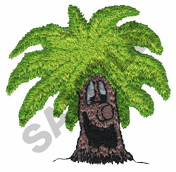 ANIMATED PALM TREE embroidery design