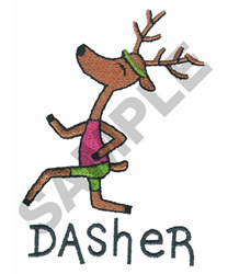 DASHER embroidery design