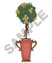 FLORAL TOPIARY embroidery design