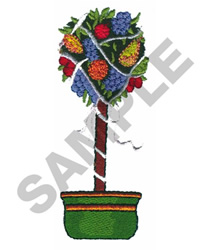 FRUIT TOPIARY embroidery design