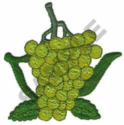 GRAPE TEAPOT embroidery design