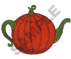 PUMPKIN TEAPOT embroidery design