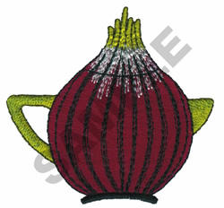 BEET TEAPOT embroidery design