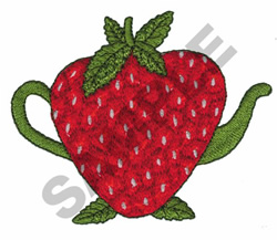 STRAWBERRY TEAPOT embroidery design