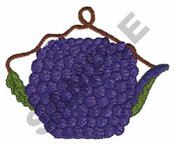 GRAPE TEAPOT embroidery design