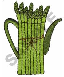 ASPARAGUS TEAPOT embroidery design