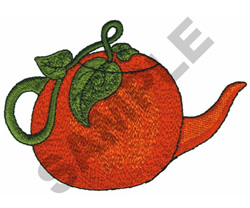 PUMPKIN TEAPOT embroidery design