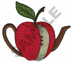 APPLE TEAPOT embroidery design