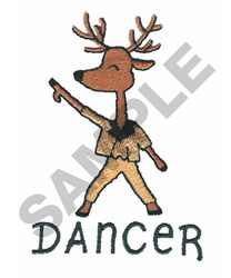DANCER embroidery design