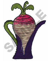 RADDISH TEAPOT embroidery design