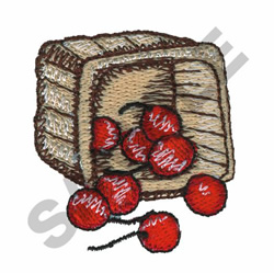 BASKET OF CHERRIES embroidery design