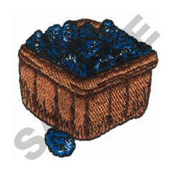 BASKET OF BLUEBERRIES embroidery design