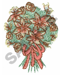 WEDDING BOUQUET embroidery design