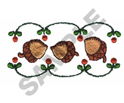 ACORN BORDER embroidery design