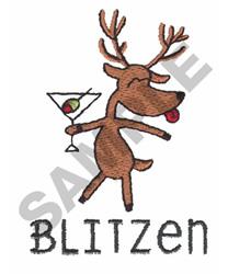 BLITZEN embroidery design