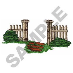 GARDEN FENCE embroidery design