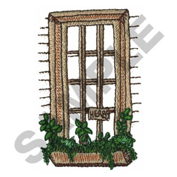 WINDOW HERB GARDEN embroidery design