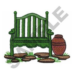 GARDEN BENCH embroidery design