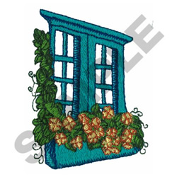 GARDEN WINDOW embroidery design