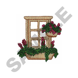 FLORAL WINDOW embroidery design