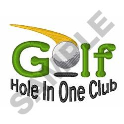 Hole In One Club embroidery design