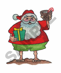 SANTA CLAUS ON VACATION embroidery design