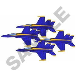 Blue Angels Formation embroidery design