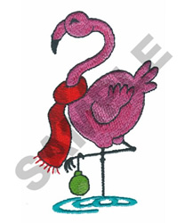 CHRISTMAS FLAMINGO embroidery design