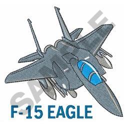 F Fifteen Eagle embroidery design