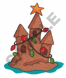 CHRISTMAS SAND CASTLE embroidery design