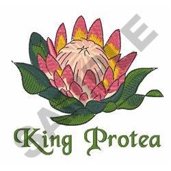 King Protea embroidery design