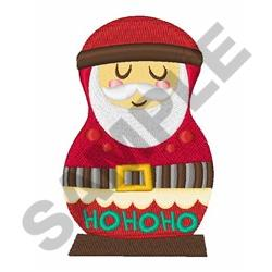 Santa Russian Doll embroidery design