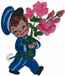 FLOWER DELIVERY BOY embroidery design