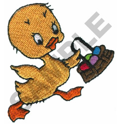 DUCK WITH EASTER BASKET embroidery design