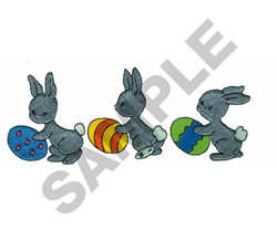 BUNNIES WITH EASTER EGGS embroidery design