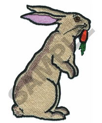 RABBIT WITH CARROT embroidery design
