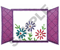 FLOWERS IN THE WINDOW embroidery design
