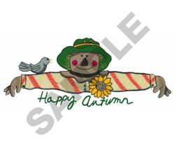 HAPPY AUTUMN SCARECROW BORDER embroidery design
