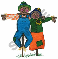 MR. & MRS. SCARECROW embroidery design